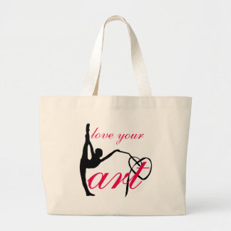"""Love Your Art"" Rhythmic Gymnastics Dance Ba Large Tote Bag"