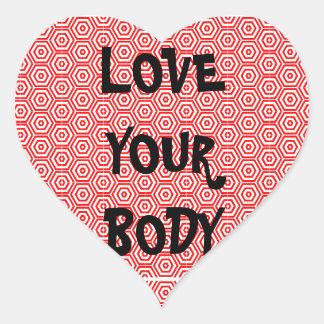 Love Your Body Heart Sticker