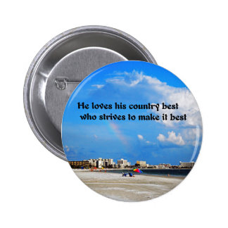 Love your country 2 inch round button