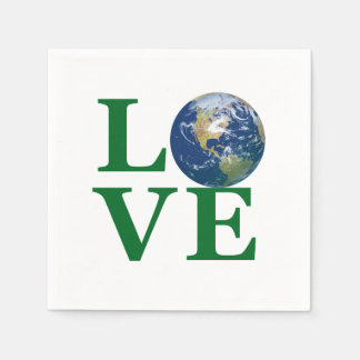 Love Your Earth Paper Napkins