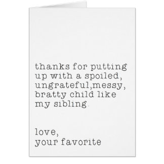 Love, Your Favorite Card