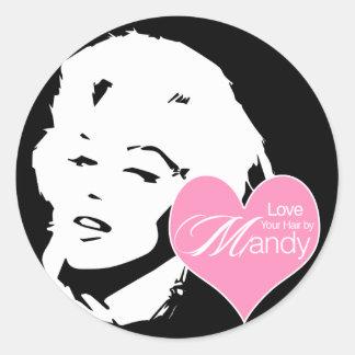 Love Your Hair by Mandy | Hair Salon Round Sticker