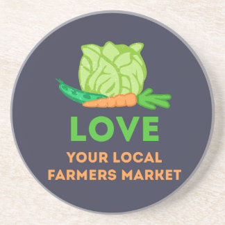 Love Your Local Farmers Market Coaster