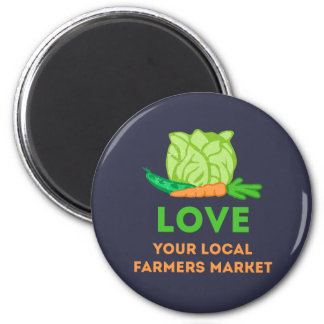 Love Your Local Farmers Market Magnet
