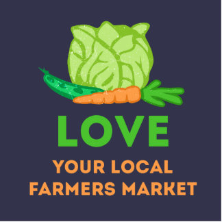 Love Your Local Farmers Market Standing Photo Sculpture