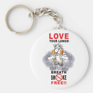 Love Your Lungs - Stop Smoking Keychain