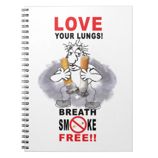 Love Your Lungs - Stop Smoking Notebook