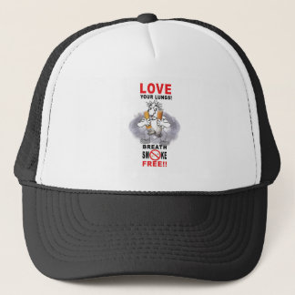 Love Your Lungs - Stop Smoking Trucker Hat