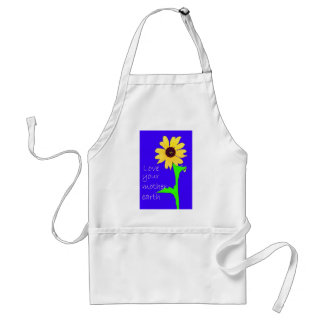love your mother earth adult apron