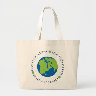 Love Your Mother (Earth) Jumbo Tote Bag
