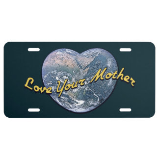 Love Your Mother Earth (Heart) License Plate