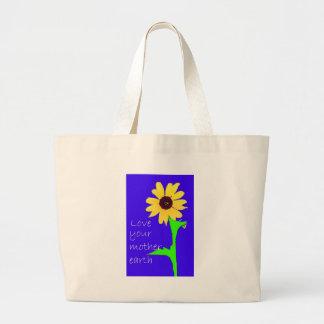 love your mother earth jumbo tote bag