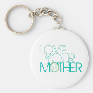 """""""Love Your Mother"""" Earth Vintage Keychains"""