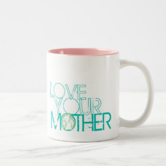 """""""Love Your Mother"""" Earth Vintage Two-Tone Mug"""