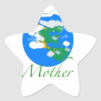 Love your mother star sticker