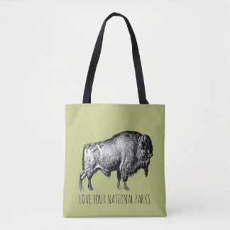 Love Your National Parks Buffalo No 2 Tote Bag