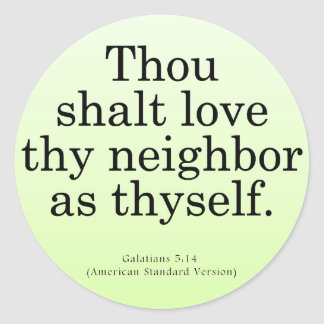 Love Your Neighbor Galatians 5 14 Stickers