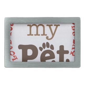 Love Your Pet Day - Appreciation Day Rectangular Belt Buckles