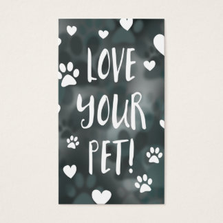 love your pet loyalty card bokeh