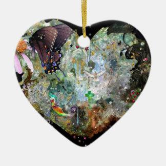 Love your world! ceramic ornament