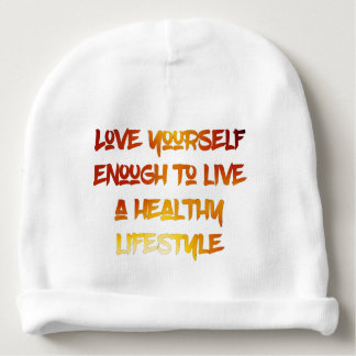 Love yourself enough. baby beanie