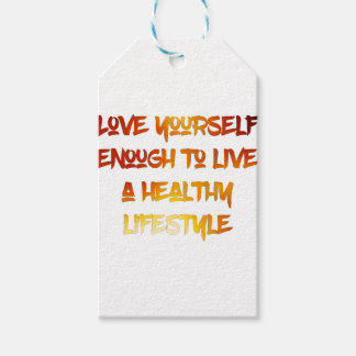 Love yourself enough. gift tags