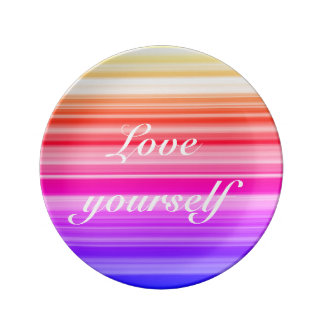 Love yourself porcelain plates