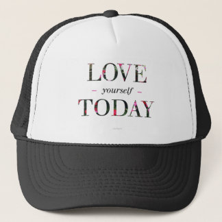 Love yourself, trucker black and white hat