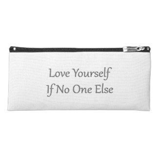 Love Yourself White Pencil Case