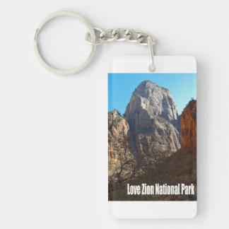 Love Zion National Park Keychain
