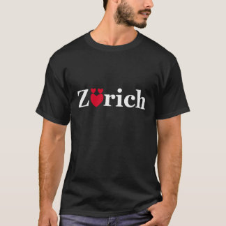 Love Zurich On Dark T Shirt