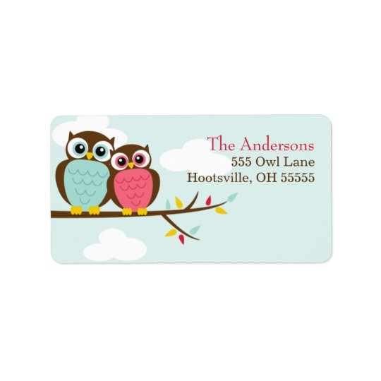 Loveable Owls Address Labels