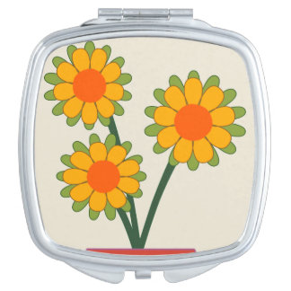 Loveable Sunflowers Makeup Mirror