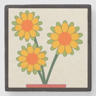 Loveable Sunflowers Stone Coaster