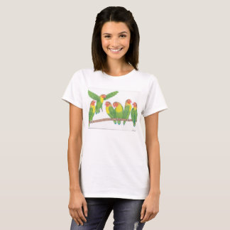lovebird cartoon womens tshirt