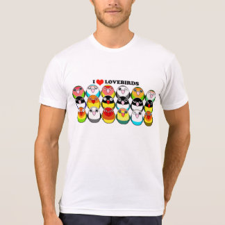 Lovebird colour mutations T-Shirt