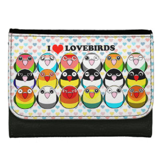 Lovebird colour mutations wallets for women