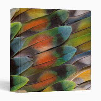 Lovebird Feather Pattern Binder