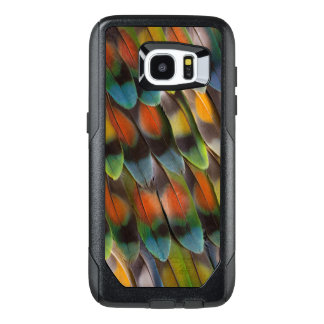 Lovebird Feather Pattern OtterBox Samsung Galaxy S7 Edge Case