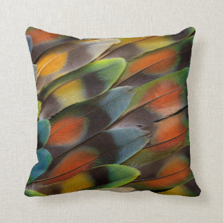Lovebird Feather Pattern Throw Pillow