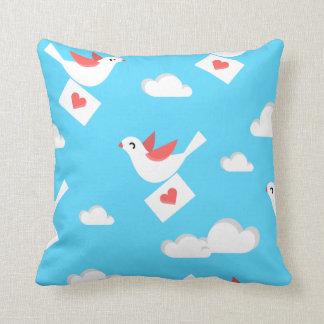 Lovebird messenger throw pillow