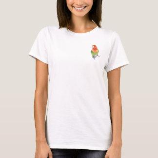 Lovebird on White T-Shirt