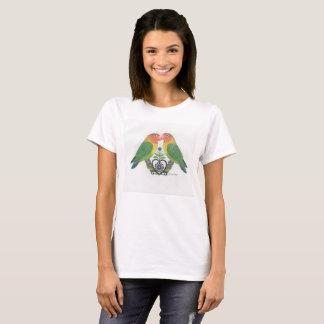 lovebird parrot womens tshirt