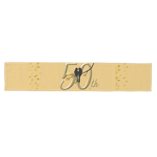 Lovebirds 50th Anniversary Medium Table Runner