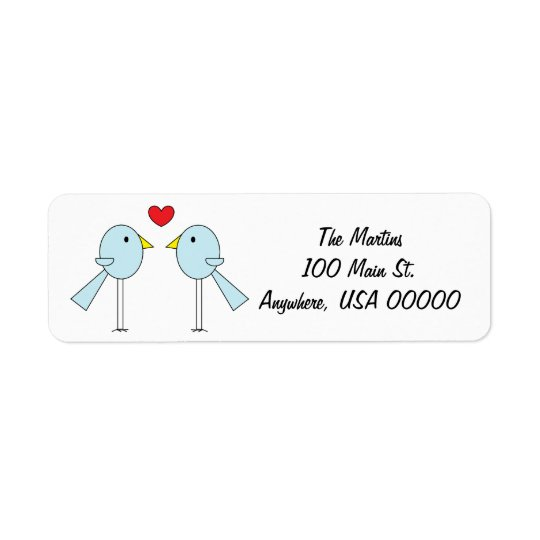 """Lovebirds"" Address Labels"