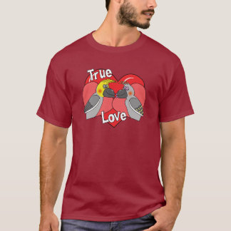 Lovebirds Cartoon Cockatiels T-Shirt
