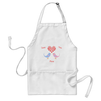 Lovebirds custom text hearts standard apron