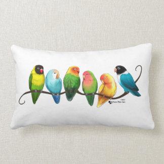 Lovebirds Lumbar Pillow