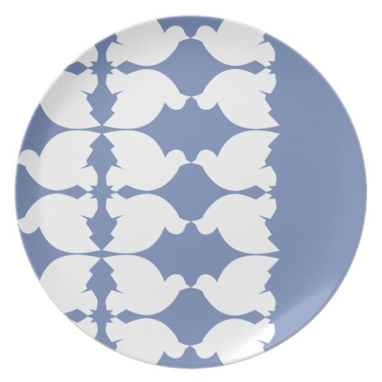 Lovebirds / Melamine Plate