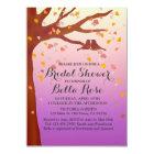 Lovebirds oak tree hearts bridal shower love1 card